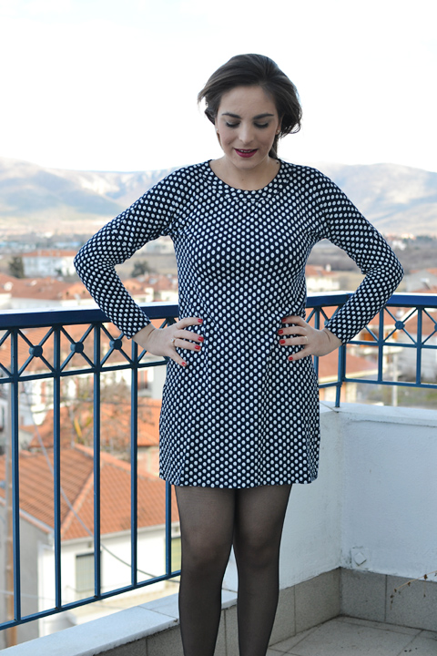 The Molly dresses: polka dots and black