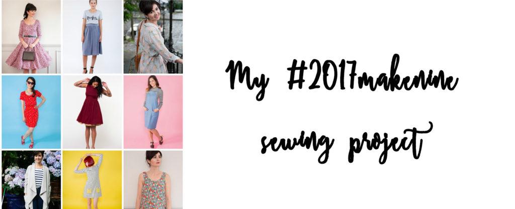 Make Nine Sewing Project #2017makenine