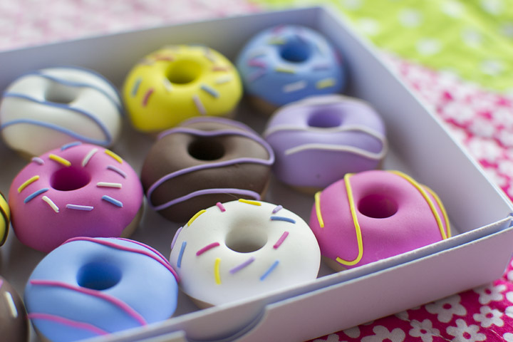My doughnut pattern weights from Oh Sew Quaint