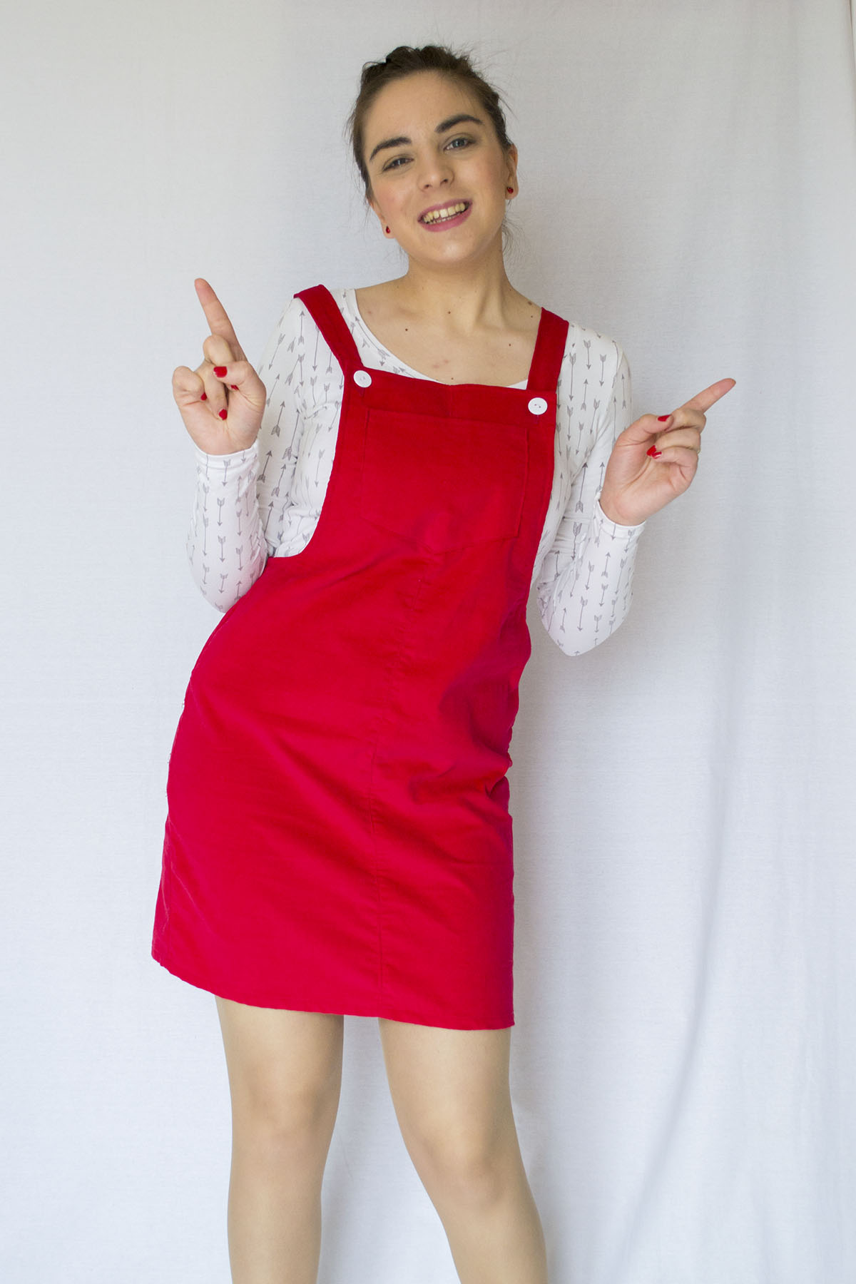 The Cleo pinafore dress from Tilly and the buttons