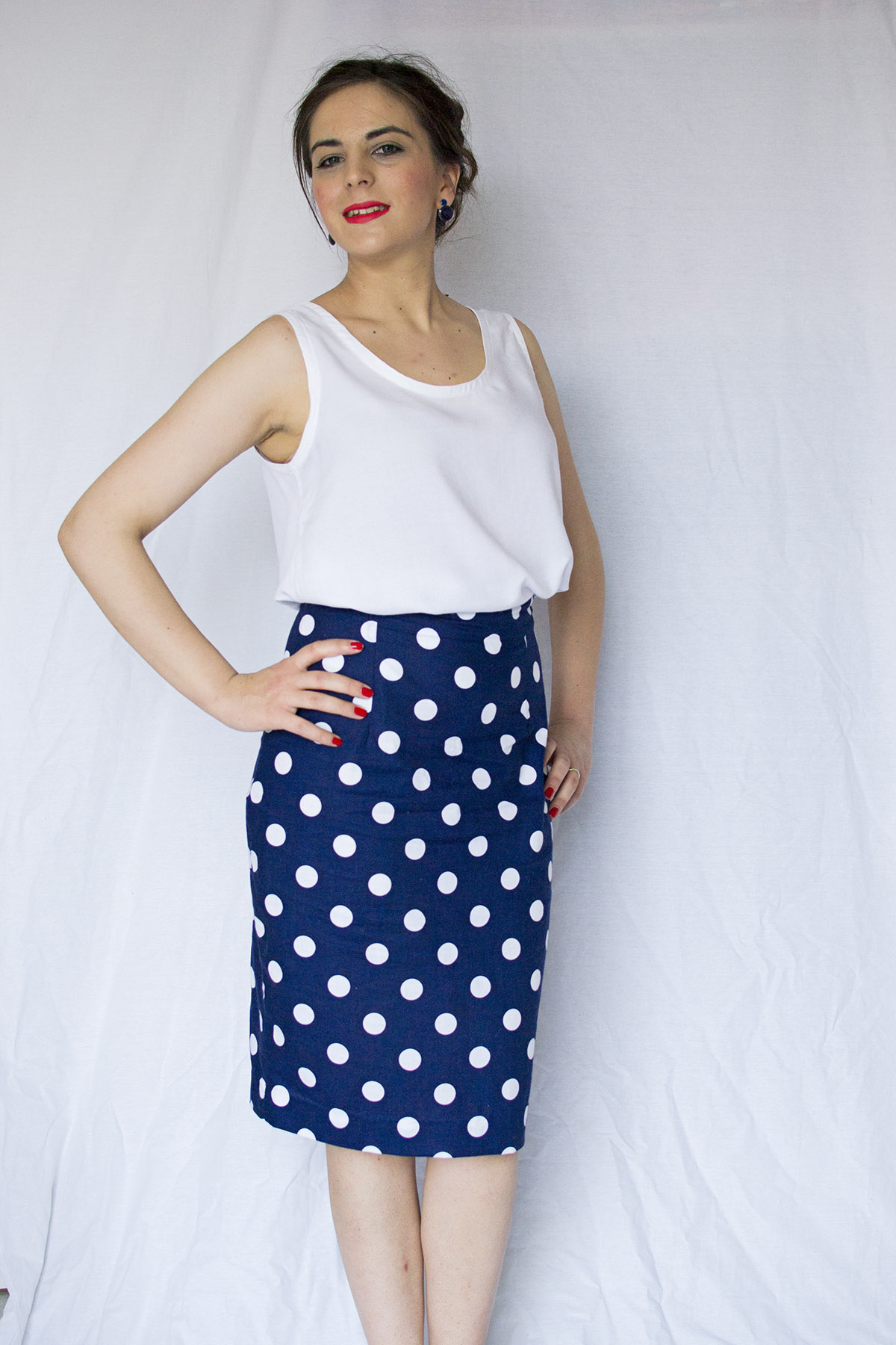A navy style handmade outfit