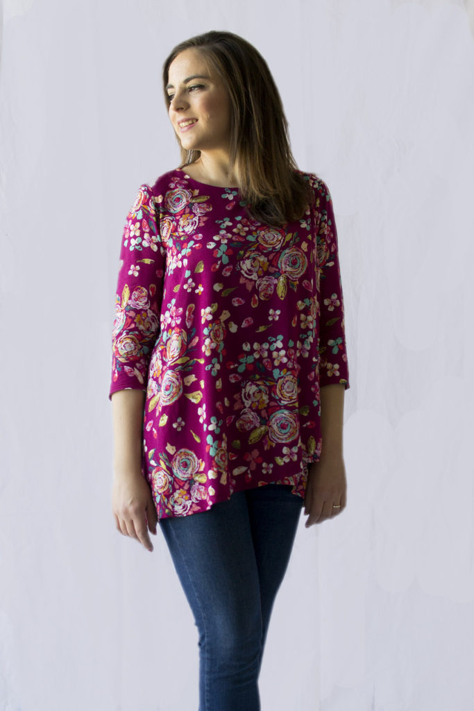 My Lily Top by SewOverIt for the Minerva Crafts Blogger Network