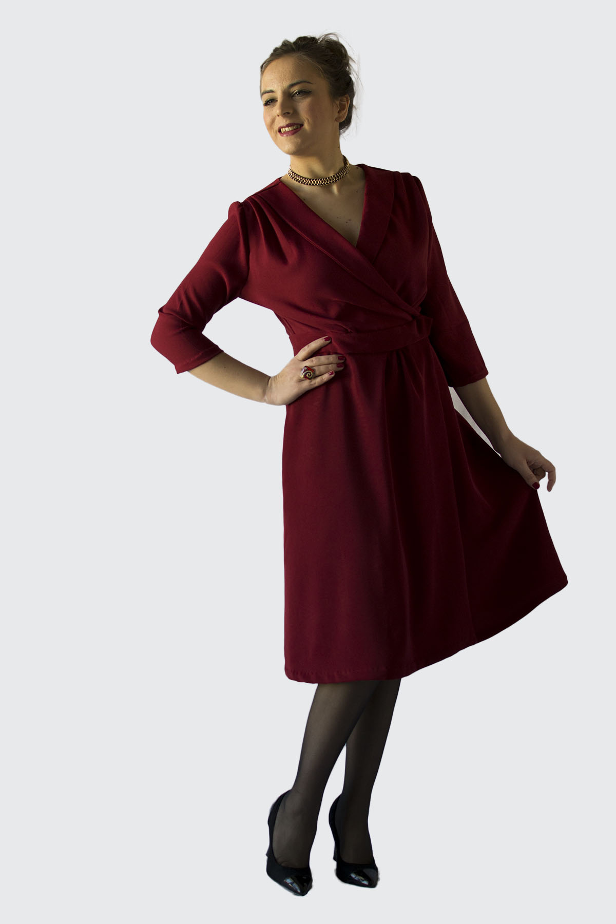 Making the 1940s wrap dress by Sew Over It