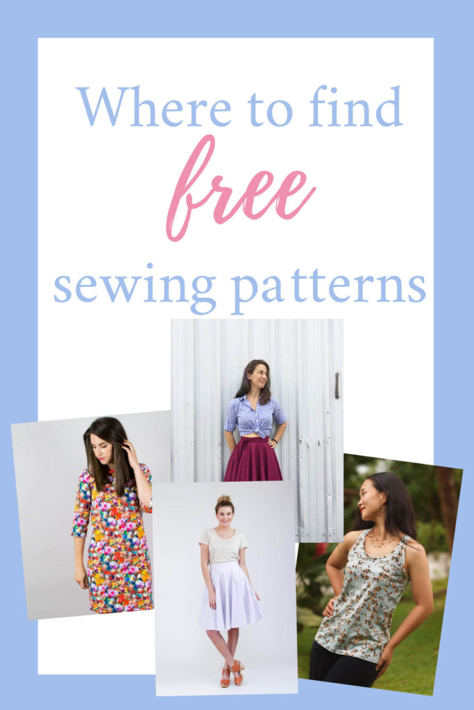 Where to find (free) sewing patterns