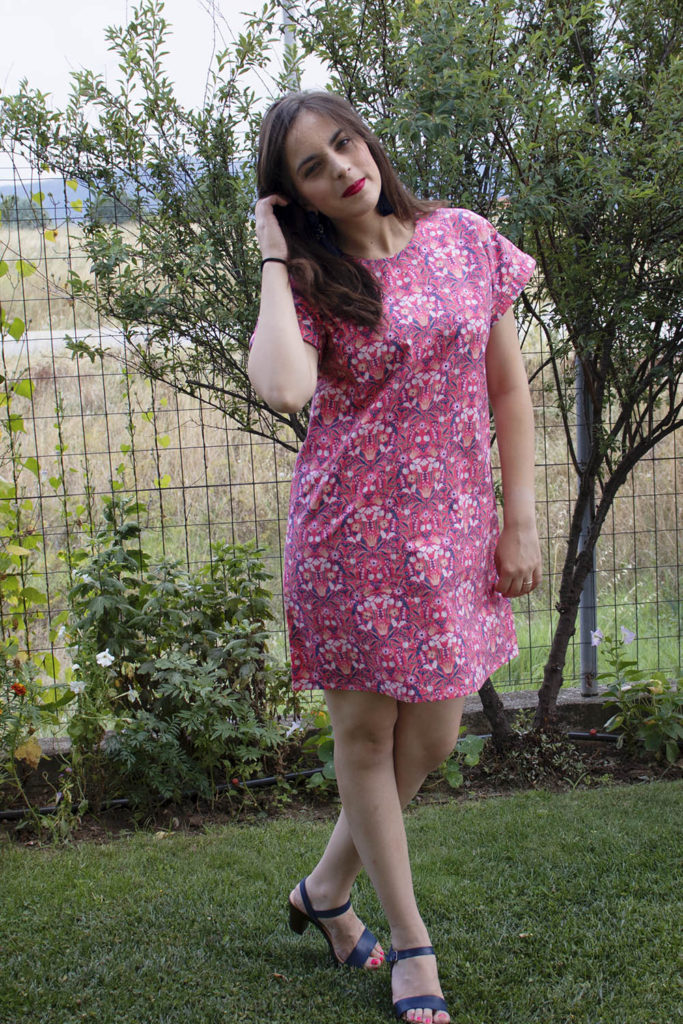 My first Stevie dress by Tilly and the Buttons