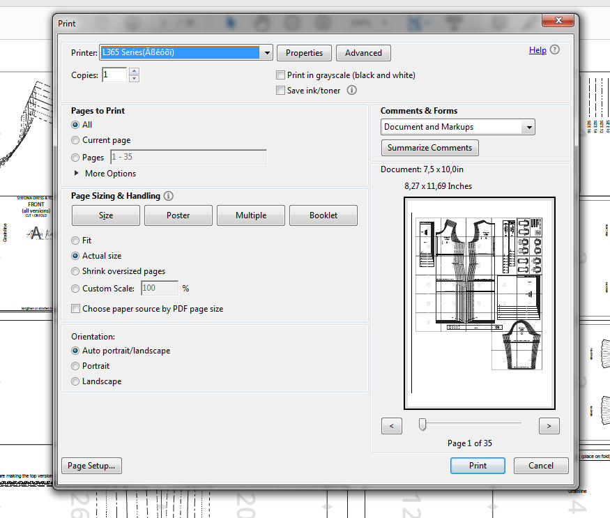 How to print and assemble a PDF pattern - Athina Kakou