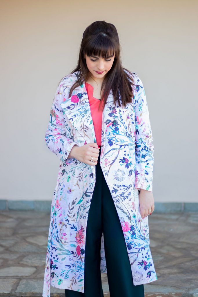 Spoonflower Trench Coat by Athina Kakou