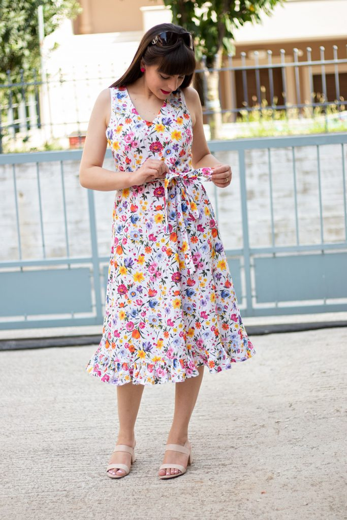 Lisa dress ruffle