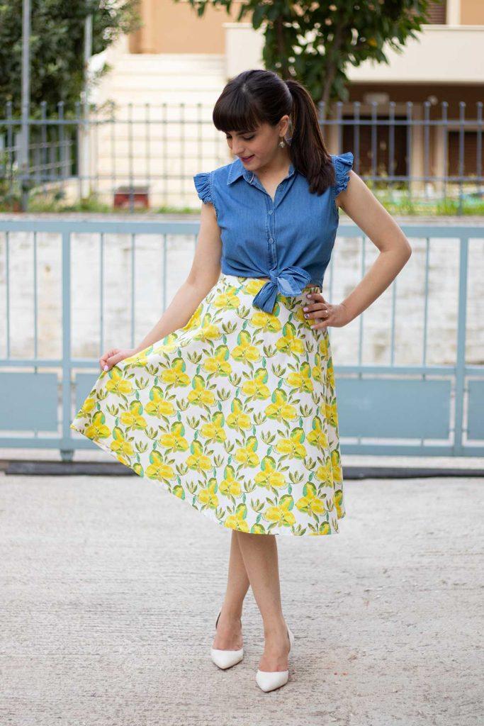 Kimberly dress skirt hack